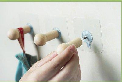 無痕粘貼實木掛鉤 創意壁掛裝飾掛鉤免釘臥室門後衣帽架鉤子