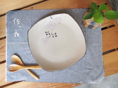 ~佐和陶瓷餐具~【82GA026-8.5 8.5吋四方淺盤(白梅)】/ 開店 餐廳 擺盤 宴會盤 /