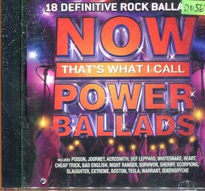 *還有唱片四館* NOW THAT'S WHAT I CALL POWER BALLADS 二手 D0568(封面底破)