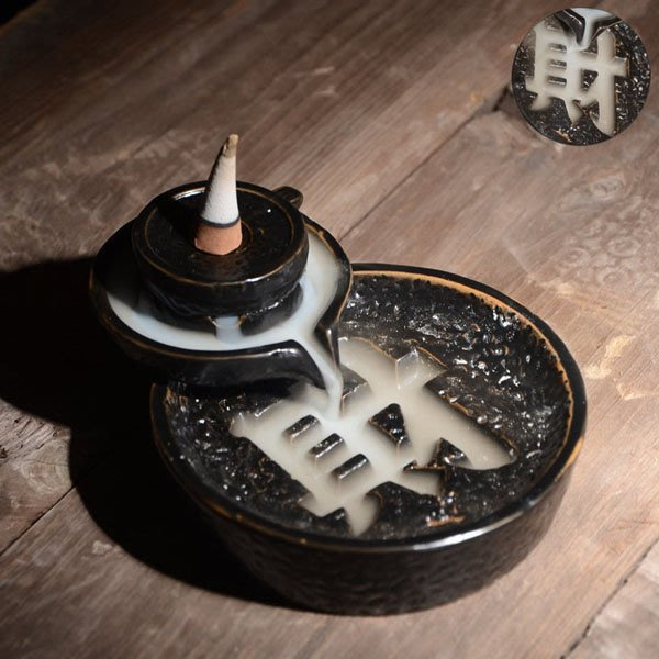 5Cgo【茗道】含稅會員有優惠 45131538841 陶瓷倒流煙香爐石磨倒流香塔香爐紫砂塔香爐倒流香薰材源滾滾熏香爐