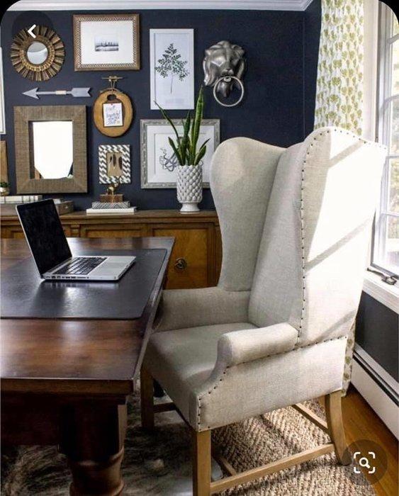 法式餐桌藝術 RH高背翅膀椅 書桌椅 主人椅 有顏色可挑