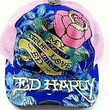 ㄚ貓的店~全新 Ed Hardy 粉色水鑽網帽~特價$3680含運