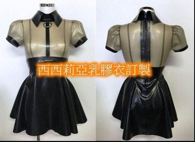 定制 乳膠衣 男女 乳膠連衣裙 性感乳膠女僕連衣裙