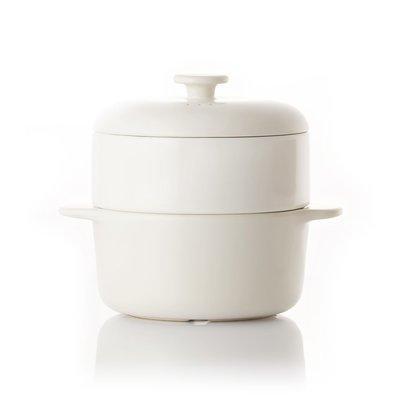 Luxury Life【正品】JIA Steamer Set 24cm 蒸鍋蒸籠 饗食版 套組(中溫瓷蒸籠盤)