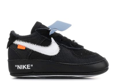 沃皮斯§Off-White X Nike Air Force 1 CB 'Black' 黑 學步鞋 BV0854-001