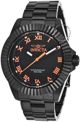 展示品 Invicta 16713 Pro Diver Legacy Orange Accented Black Stainless Steel Me