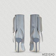 【WEEKEND】 UNRAVEL Pocket 口袋 反光 拉鍊 高跟 靴子 短靴 紅色 19秋冬