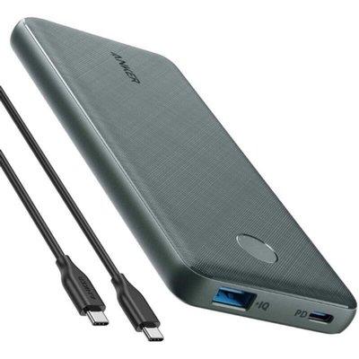 [現貨供應]Anker 行動電源 PowerCore Slim 10000mAh PD 高速行充 USB-C 18W雙向PD快充 附usb c to c 充電線