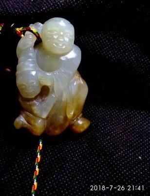 諸羅山人~~~ 極品新疆和闐白籽玉雕 和合二仙 鑑賞期7天 81.5g  5.6x3.6x2cm