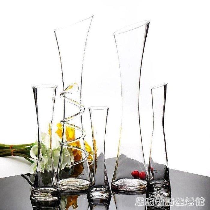 【南巷小鋪】小花瓶擺件單支插花百合玻璃花插透明現代百搭創意餐S2U96(免運費)