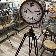復古做舊個性創意落地鐘工礦探照燈鐵藝實用鐘(2色可選)