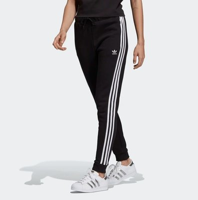 【Dr.Shoes 】Adidas Cuffed Track Pants 女裝 黑 白線條 縮口褲 長褲 DV2572