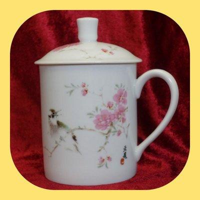 全新 國家領導杯一隻連蓋 名師設計之作 景德鎮陶瓷 Jingdezhen porcelain 聖誕及新年精選禮品