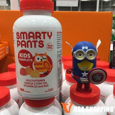 北美旗艦代購~美國直發 Smarty Pants兒童多種維生素軟糖含omega3+VD+DHA 180粒