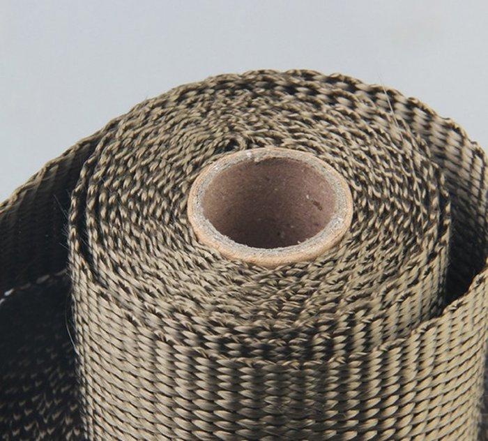 ☆光速改裝精品☆ 鈦色玻璃纖維隔熱布隔音布 排氣管防燙布 隔熱帶