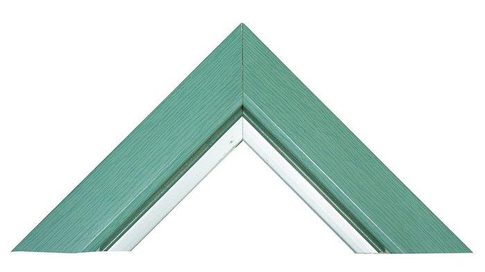 【松風閣畫廊 裝框/裱框/裱褙】609水藍 木框訂製 拼圖框/證書框/圖畫框/海報框/鏡框
