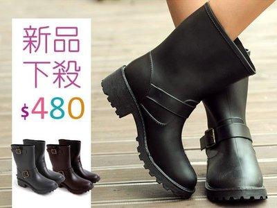 超哥小舖【S3010】現貨 VIVI蕭亞軒機車靴工程靴中筒靴騎士靴牛仔雨靴雨鞋+鞋墊非UGG雪靴