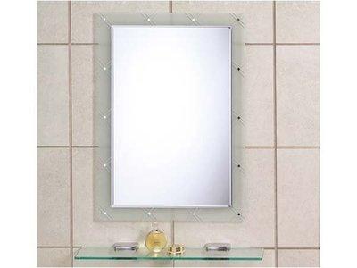 華冠牌化妝鏡 華冠牌衛浴鏡 HM-076防霧化妝鏡(浴鏡、除霧鏡) 附玻璃平台 台灣製造交叉反面噴砂鏡 鏡子