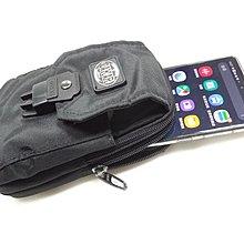 *迪奧小店*【拉鍊雙主層+插釦口袋】16cm腰包/穿式勾式手機袋~腰袋~錢袋~腰掛包~隨身腰包/黑色