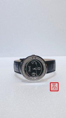 『昱閣』 PIAGET 伯爵正品 Possession系列 18K白金原鑲鑽 29mm石英女錶 ( 全新客製化錶帶 )