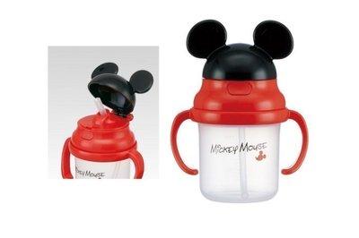《東京家族》迪士尼 米奇 透明 兒童吸管水壺/水杯