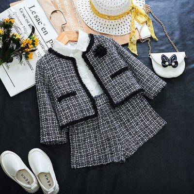 【溜。溜。選物】秋季 新款*好有氣質*公主名媛風 小香風格紋外套+短褲 兩件組套裝
