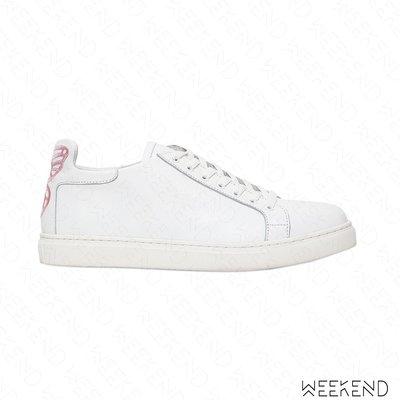 【WEEKEND】 SOPHIA WEBSTER Bibi 蝴蝶 皮革 休閒鞋 白+粉色