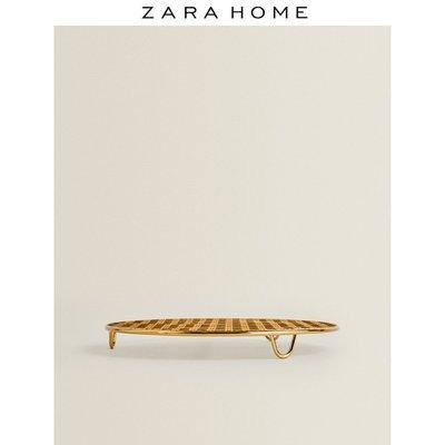 遮光網Zara Home 歐式簡約金色網眼狀設計圓形隔熱墊餐墊 44215494303