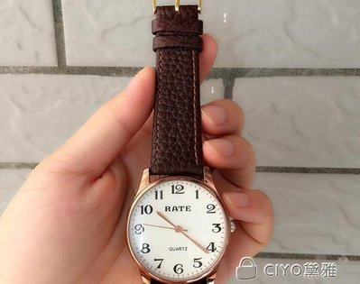 日和生活館 超清晰大數字中老年人老式大錶盤男女老人電子皮帶手錶石英錶S686