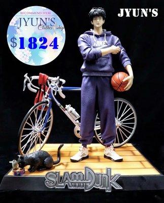 JYUNS 新款灌籃高手湘北五虎流川楓自行車場景GK雕像模型盒裝手辦禮物 1款 預購
