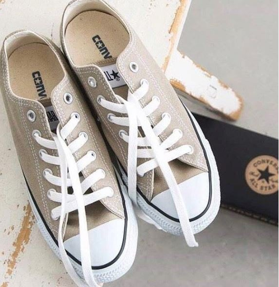 ☆AirRoom☆【現貨】Converse CANVAS ALL STAR COLORS OX 1CL129 奶茶色