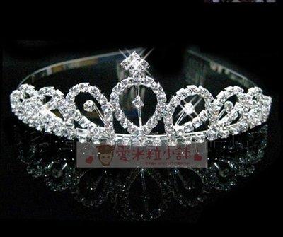 C18 公主皇冠髮箍 髮圈 結婚禮服頭紗花童服表演服花僮音樂會拍照必備☆愛米粒☆