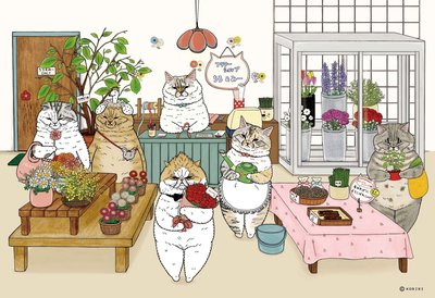 台灣拼圖-KORIRI 不可思議的貓世界 300片共四款 (300片,AJR300,2019新品)