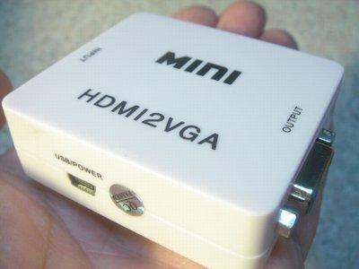 HDMI轉VGA轉換器/HDMI TO VGA 附3.5mm音頻 PS3/PS4 XBOX360 桃園《蝦米小鋪》