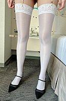 【實拍~油亮加厚防滑大腿襪情趣百搭】