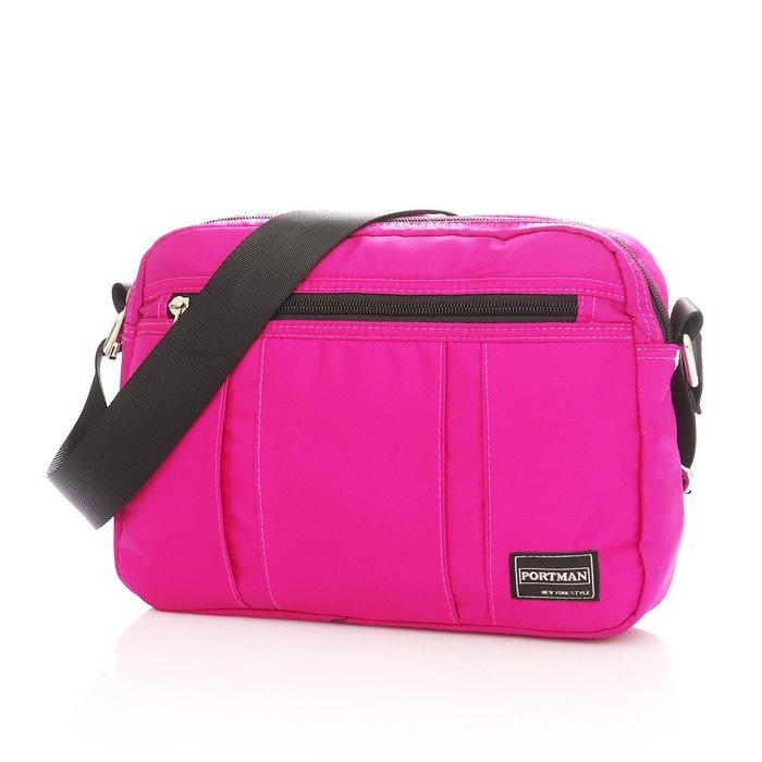 ◎包包的家◎簡約美學價【PORTMAN】輕量防水側背包(桃紅) PM124066