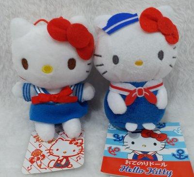日本三鸝鷗HELLO KITTY海軍風娃娃