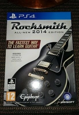 全新 PS4 Rocksmith 2014 Edition 連 Real Tone Cable 結他線 (歐洲英文套裝)