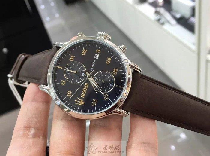 請支持正貨,瑪莎拉蒂手錶MASERATI手錶EPOCA款,編號:MA00113,黑色錶面棕色皮革錶帶款