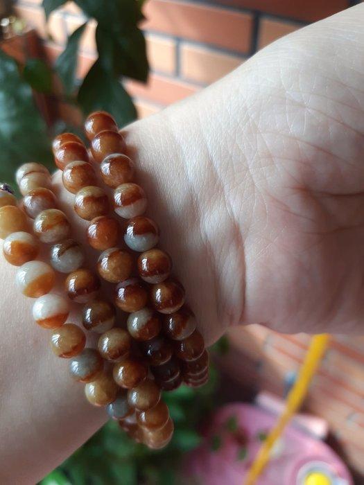 天然緬甸玉 陰陽珠 鴛鴦珠 項鍊 手鏈