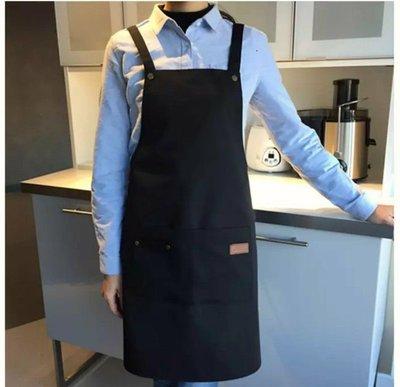 (正妺的店)帆布工作圍裙 韓版圍裙 美甲店 咖啡店 美髪 飲料店