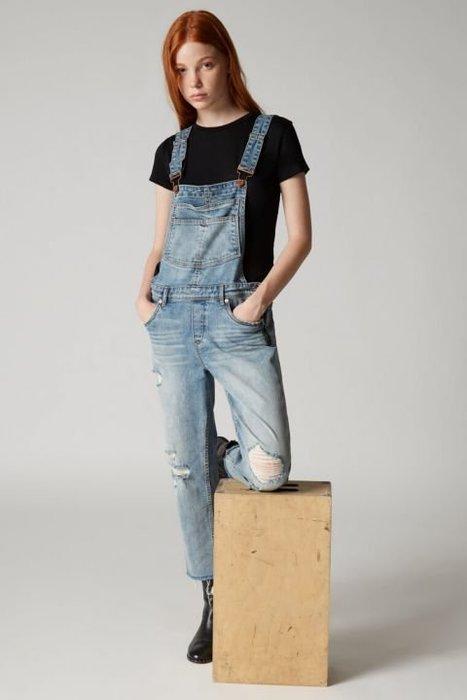 【代購】 美 新品  BLANKNYC 刷破 吊帶褲