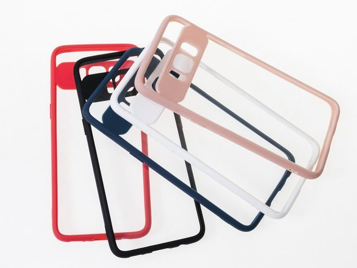 Samsung Galaxy S8 / S8 Plus 磨砂邊框半透背板保護殼 多色可選