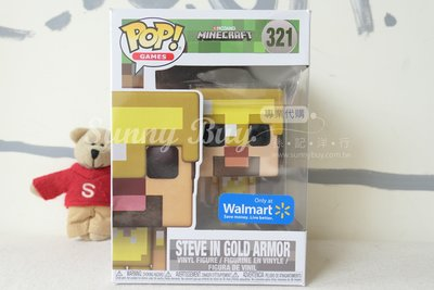 ~Sunny Buy~~ ~ 版 FUNKO Minecraft 當個創世神 麥塊 黃金盔甲史蒂夫 STEVE
