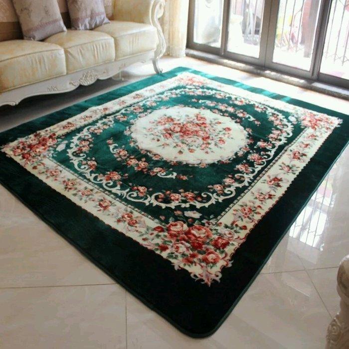 粉紅玫瑰精品屋~高檔歐式手工雕花復古客廳地毯 臥室地毯~