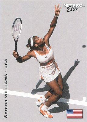 23座大滿貫賽單打冠軍~2003 NetPro Serena Williams 小威廉絲網球新人卡 RC,免郵資哦!!!