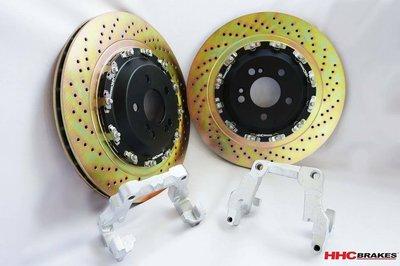 HHC BRAKES M-M-Benz 賓士 W205 S205  專用 二片式 浮動 後加大碟盤 370mm