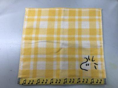 日本 棉紗 胡士托小黃鳥小方巾