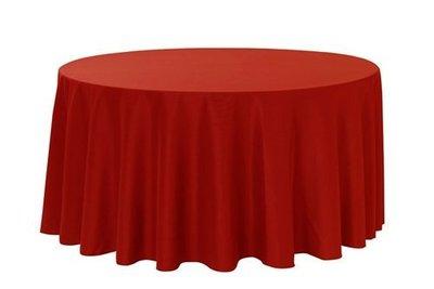 居家家飾設計  桌巾/圓檯布240cm圓-緞面布-適用90cm/120cm/150cm/180cm圓桌-雙針車邊