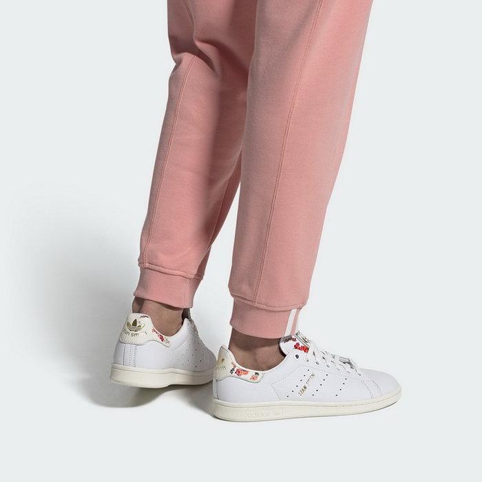 【Dr.Shoes 】Adidas Originals Stan Smith 白色 花卉 皮革 經典 女段 FY8734